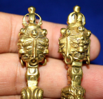 Blessing Kilaya 3 face Wrathfull Gold, size 6,5 cm, Tibetan Holy Weapon
